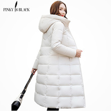new 2014 winter jacket womens PU slim medium-long coat women wadded outerwear