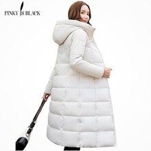 PinkyIsBlack зимняя куртка, женские длинные парки с капюшоном, зимнее пальто, женская стеганая куртка, верхняя одежда, утепленная пуховая куртка с хлопковой подкладкой