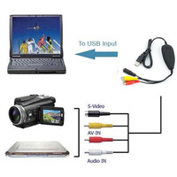 USB Audio Video Grabber Capture Analog Video From VHS 8MM Video Camera Recorder DVD Player TV
