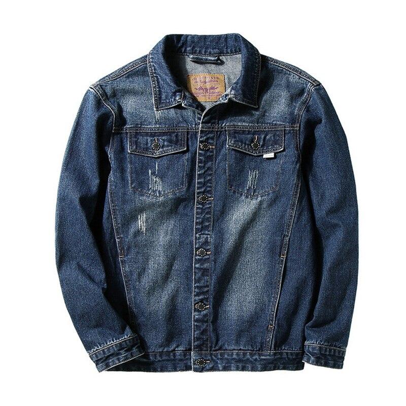 Мужская джинсовая куртка, повседневная, весенне-осенняя, большого размера, L-5XL, 6XL, 7XL, 2019