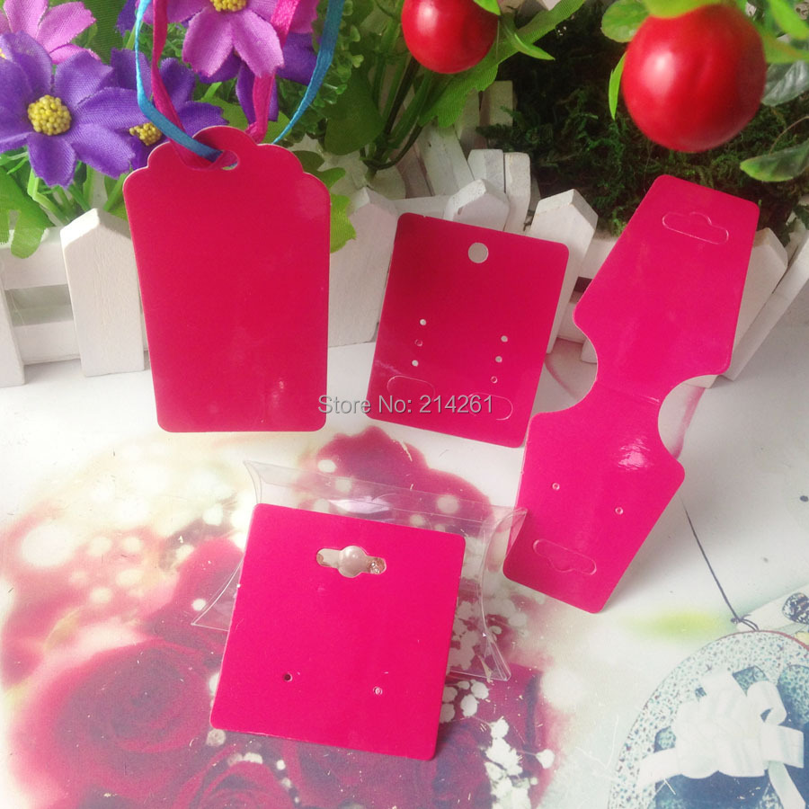 Hot Pink Diy Jewelry Display Set Card Necklace Card