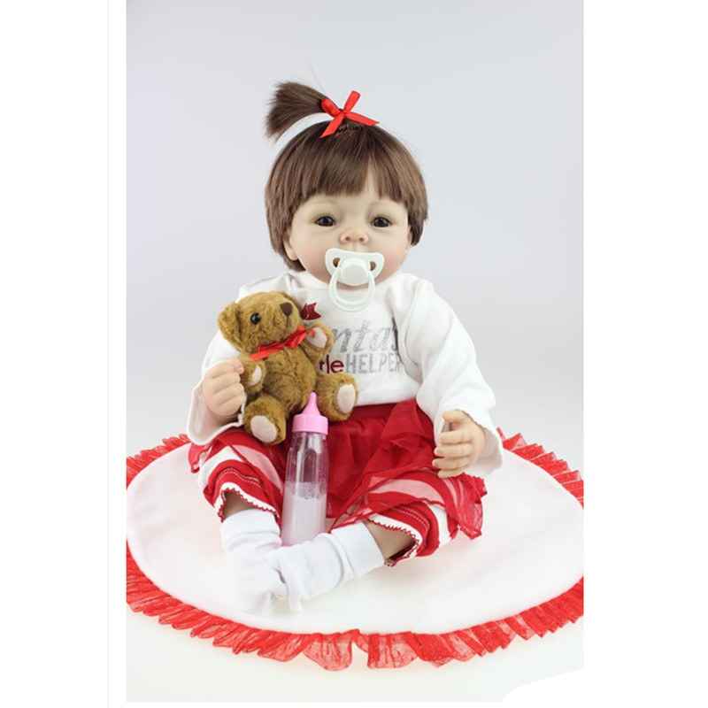 Real Looking Simulation Silicone Reborn Dolls 20 Inch,Cute Lifelike Baby Reborn Doll Toys for Children Christmas Gift super cute plush toy dog doll as a christmas gift for children s home decoration 20