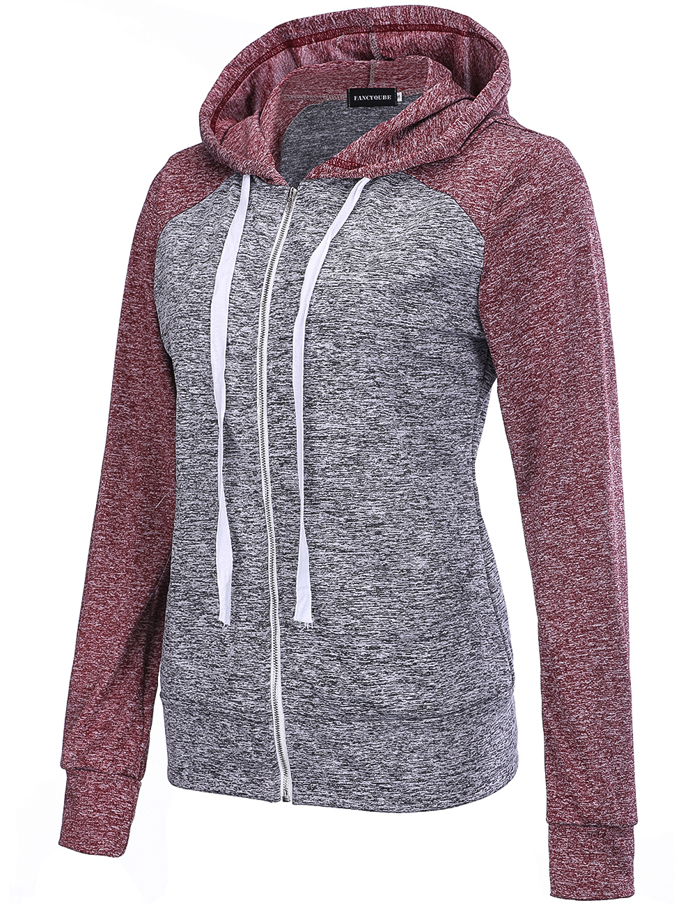 New Women s Long Sleeve Running Jacket With Drawstring Patchwork Sports And Fitness Clothes