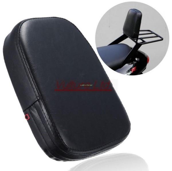 Черные Прямоугольные Спинки Сисси Бар Подушка Pad Для Harley Хонда Сузуки Ямаха