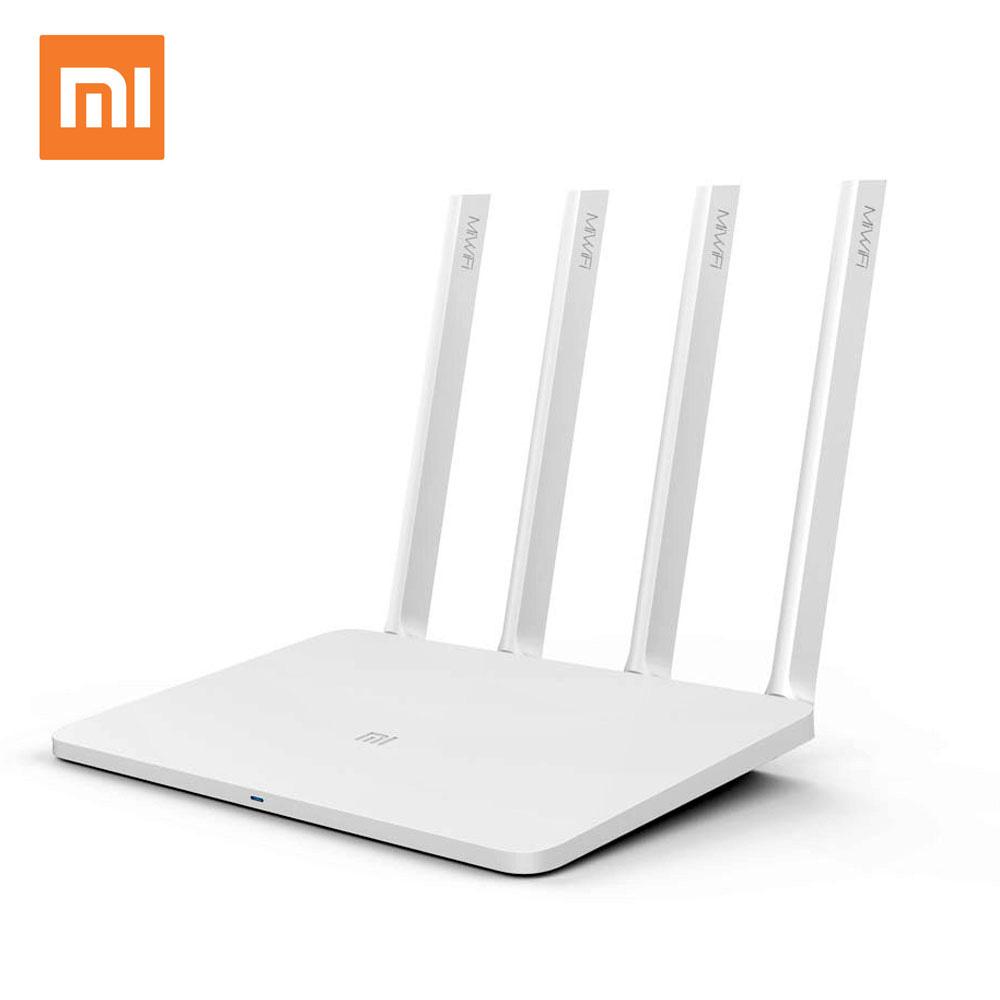 Prix pour Anglais version d'origine xiaomi wifi routeur 3 wifi répéteur 1167 mbps 2.4g/5 ghz dual band app contrôle wifi sans fil routeurs