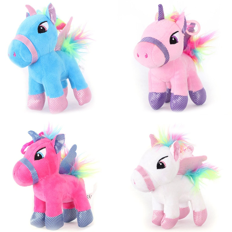 Stuffed Animal Baby Dolls Lovely Cartoon Unicorn Donkey Horse Plush Toys For Kids Toys Children Baby Birthday Christmas Gift classic animation hercules baby pegasus plush white horse toys 33cm pelucia plush toys for children kids toys gift