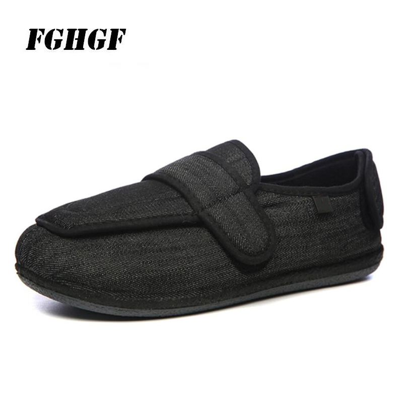 Обувь для диабета, легкая мягкая широкая обувь с регулируемой тонкой подошвой, обувь с потертостями