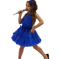 Frete grátis Pure Color bebê chiffonruffle conjunto vestido de Chiffon top + Pettiskirt meninas DressTutu Set