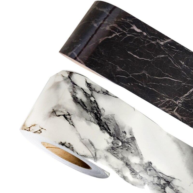 5m 10cm White Marble Self Adhesive Wallpaper Sticker