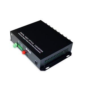 Image 4 - 1 زوج 2 أجزاء/وحدة 16 قناة الفيديو البصرية محول 16V1D الألياف البصرية فيديو جهاز ناقل بصري والاستقبال 16CH + RS485 البيانات