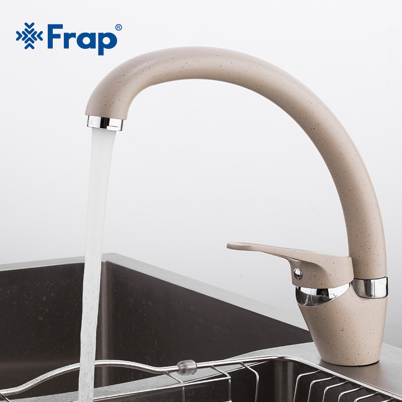 FRAP  Brass 5 Color Kitchen Sink Faucet Mixer Cold And Hot Single Handle Swivel Spout Kitchen Water Sink Mixer Tap Faucets F4113(China)