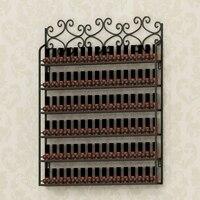 Wrought iron wall hanging nail polish display shelf. Nail nail polish plastic shelf