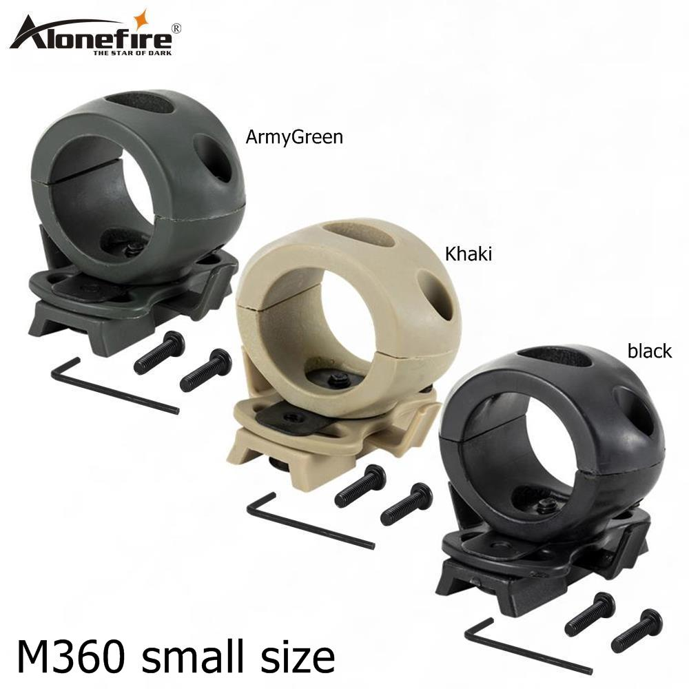 AloneFire M360 Small Size Flashlight Mount Holder Light Helmet Flashlight Holder Torch Mount Rubber Clip For Torch Hunting Mount
