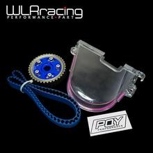 WLR RACING-HNBR гоночный Ремень ГРМ+ алюминиевый кулачковый механизм+ крышка камеры для 92-00 Civic D16Z D16Y с наклейкой PQY