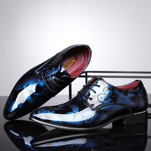 Image 3 - REETENE Floral Pattern Men Dress Shoes Men Formal Shoes Leather Fashion Groom Wedding Men Shoes Oxford Shoes For Men Zapatos De