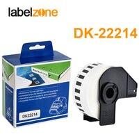 DK 22214 1PC Recarga Rolls Papel Térmico Etiqueta 12mm * Contínua 30.48m Compatível para O Irmão Impressora de Etiquetas Brancas papel DK22214|Fitas de impressora| |  -
