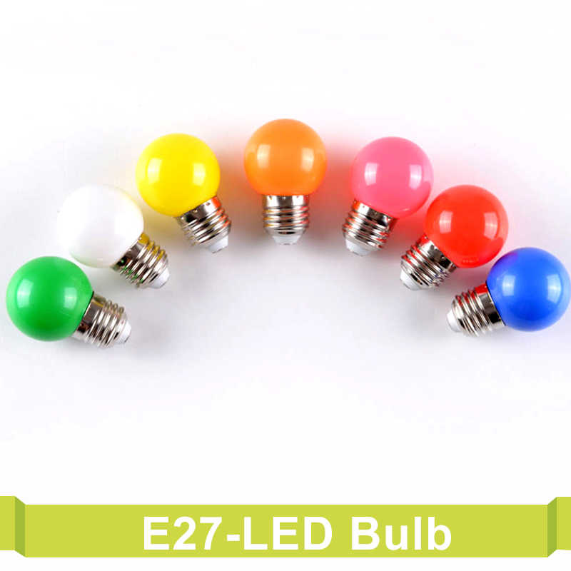 E27 220V SMD 2835 Bombillas Lamparas 3W Colorful Led Bulb For chandelier New Year Christmas Decoration Red Blue LED Lights
