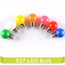 E27 220V SMD 2835 Bombillas Energy Saving Lamparas 1W 3W Colorful Screw Led Bulb Home Decor Lighting Lampada Bubble Led Bulbs