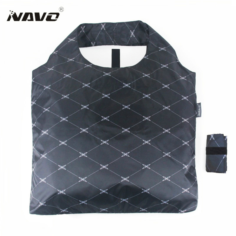 NAVO Brand Folding Shoping Bag Foldable Reusable Grocery Bags Polyester Shopping Bags Fashion Designer Casual Tote Bag Shopper xhose city shoping 71%