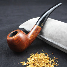 Pouch Smoking-Pipe Holder Tobacco 16-Tools 9MM-FILTER Wood Round Solid Red Handmade Natural