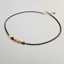Lily Jewelry Black Spinels Tourmalines Beads Gold Filled Necklace Natural Stone Popular for Women Nice Gift 40-43cm