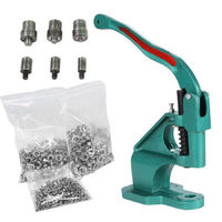 Free Shipping Grommet Eyelet Machine 3 Die (6/10/12mm) & 1500 Grommets Eyelet Hand Press Tool Banner Leather Craft