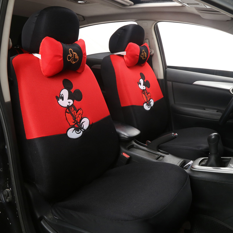muniuren cute universal car seat cover cartoon seat covers interior accessories for mesh car. Black Bedroom Furniture Sets. Home Design Ideas