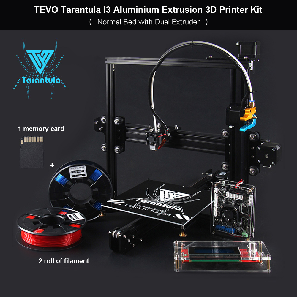 TEVO Tarantula I3 3D Printer Aluminium Extrusion 3D Printer Kit 3D Printing 2 Rolls Filament 8GB Memory Card As Gift ship from european warehouse flsun3d 3d printer auto leveling i3 3d printer kit heated bed two rolls filament sd card gift