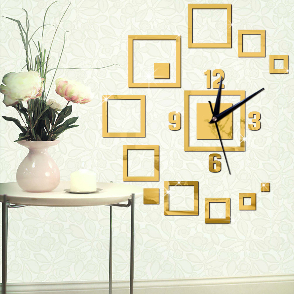 Large Decorative Wall Clocks Modern Design Acrylic Clock Home Decor ...