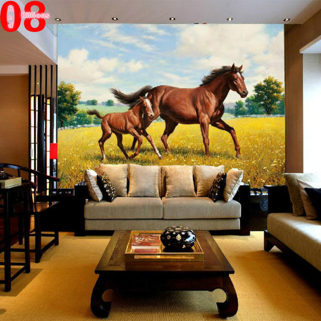 Charming Free Shipping,Wallpaper Customized Wall Murals For Living Room Horse Home  Decor Cartoon Animal 3D Wallpapers Large Mural