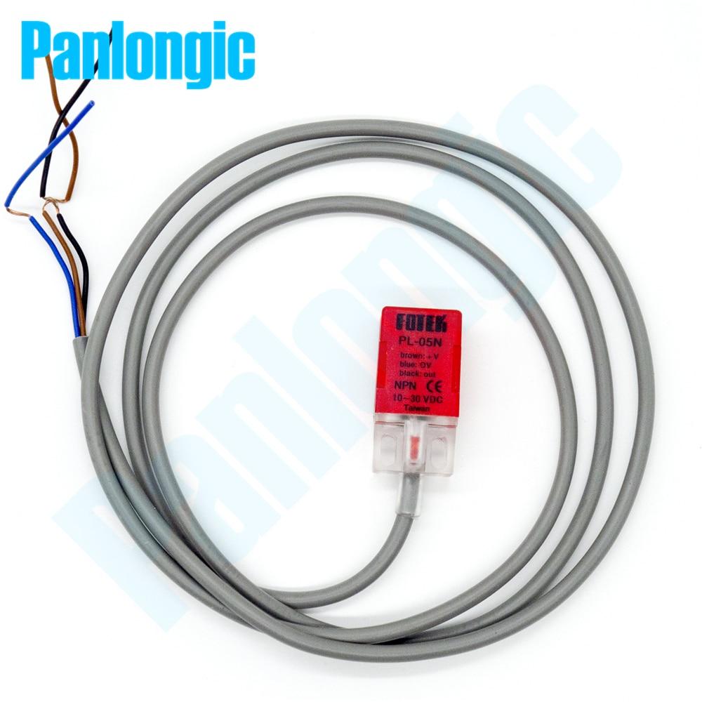 PL-05N Inductive Proximity Sensor approche commutateur 5mm d/étection NPN NO DC 10-30