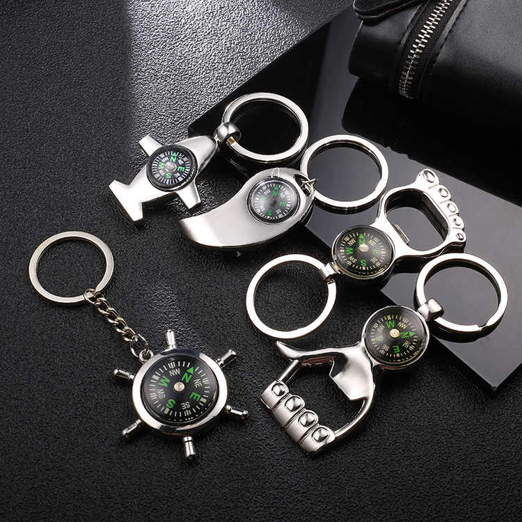 2019 New Creative Compass Bottle Opener Small Gift 50 Year Calendar Mini Calendar Key Chain Key Chaing Beer Bottle Opener