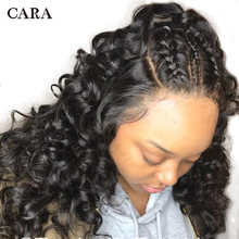 CARA Loose Wave 360 Lace Frontal Wigs Natural Color Pre Plucked Natural Hairline Remy Hair Free Shipping
