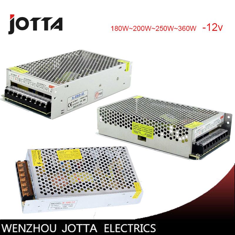FreeShipping 12V 180W~200W~250W~350W~360W LED Switching power supply 12v power supply 12v power supply led
