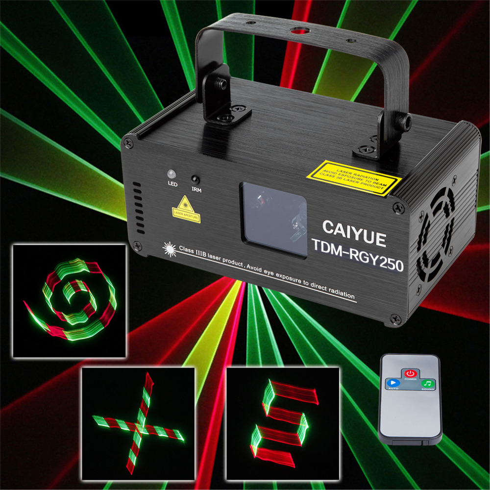 3D DMX512 Effects RGY Red Green Yellow Laser Scanner Projector Full Light DJ Disco Party Xmas Professional Stage Lighting show 270mw full color laser lighting dmx sound auto dj disco club party stage light
