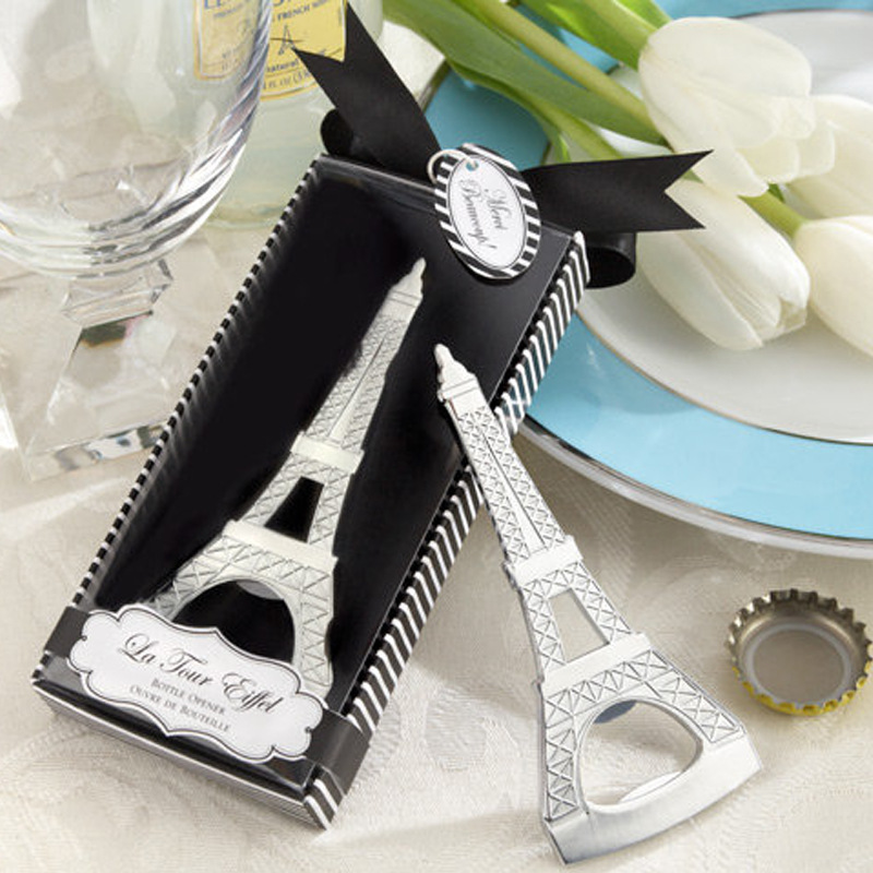 Free shipping creative novelty items tower bottle opener wedding favors gift box packaging W7573 image