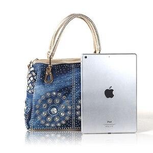 Image 5 - Ipinee カジュアルレディーストートバッグデザイナークリスタルダイヤモンド女性メッセンジャーバッグ有名なブランドの高級ハンドバッグの女性のバッグ