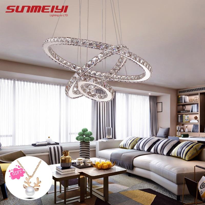 Moderna lámpara de luces de araña de cristal led para sala de estar - Iluminación interior