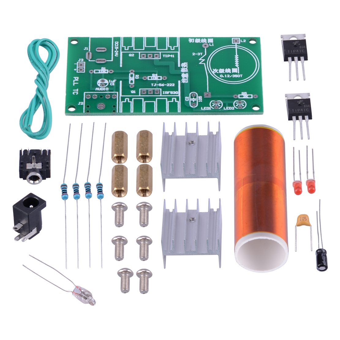 LETAOSK Mini Tesla Coil DIY Project Kit 15W Plasma Speaker Electronic Field Music Player Audio Accessories
