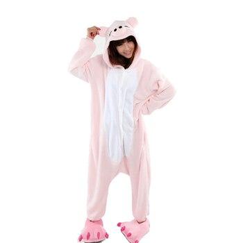 Pink Pig kigurumi for women Winter kigurumi animal women's pijamas adults pajamas animal cosplay kigurumi man and woman фото