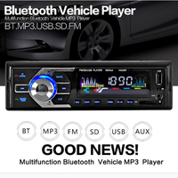 NewBluetooth Car In Dash Stereo Audio USB FM Aux Input Receiver MP3 Radio Player 4 Channel