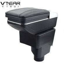 Vtear для Ford Ecosport подлокотник коробка интерьерная Из искусственной кожи центральный магазин содержание коробка держатель стакана, пепельница автомобиля-аксессуары для укладки