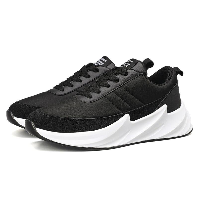 Image 2 - Дизайнерские кроссовки с акулой; мужская повседневная обувь из сетчатого материала; мужские кроссовки; Мужская обувь; Мужская прогулочная обувь; цвет черный, серый; кроссовки-in Мужская повседневная обувь from Обувь