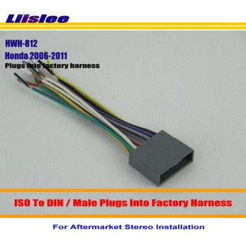 Liislee Car Radio CD Player Stereo DVD GPS Installation Wiring Harness Wire Adapter For Honda Civic/CRV /Fit/Odyssey image