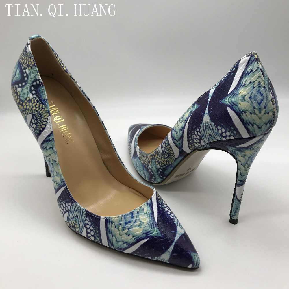 2017 New Arrival Fashion Design Women Pumps Casual High Quality Genuine leather High Heels Shoes Woman Work TIAN.QI.HUANG 1