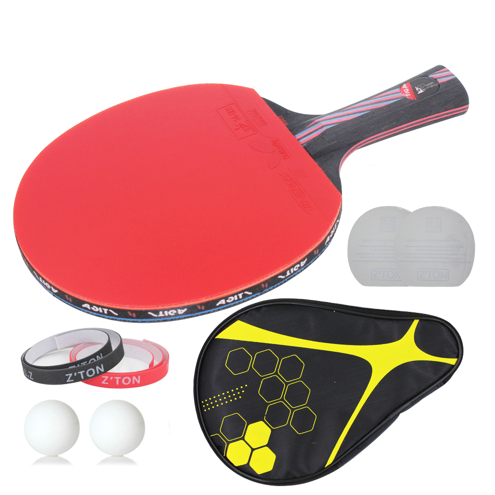 Hybrid wood 9 8 brand quality table tennis racket ddouble for Table tennis