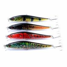 4Pcs/Lot Minnow Fishing Lure 10cm 10g Color Painting Wobblers Crankbait Artificial Bait Pike Carp Lures For Tackle Gear