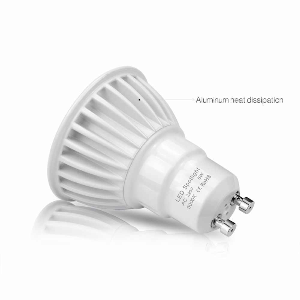 GU10 LED Bulb lamp 110V 220V 3W 5W 7W Non-Dimmable COB LED Spotlight Aluminum AC85V-265V Indoor lighting