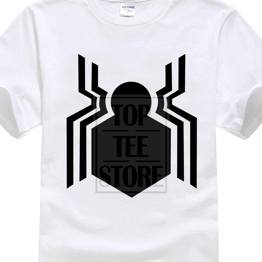2018 Newest Letter Print Create Your Own Tee Shirts New Spiderman Homecoming Logo Movie T Shirt Short Sleeve T Shirt
