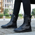 Hombres botas de Otoño Y de Invierno de Cuero Genuino botas Militares botas Martin casuales zapatos Para Caminar al aire libre zapatillas deportivas mujer